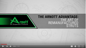 1 min video on remanufacturing air suspension strut